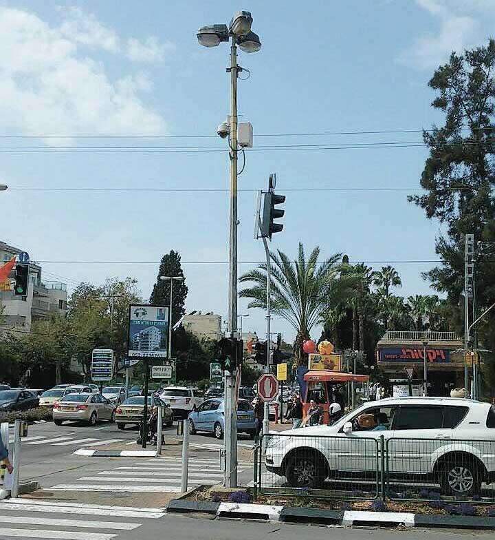 מצלמות שהציבה העירייה ברחוב אחוזה