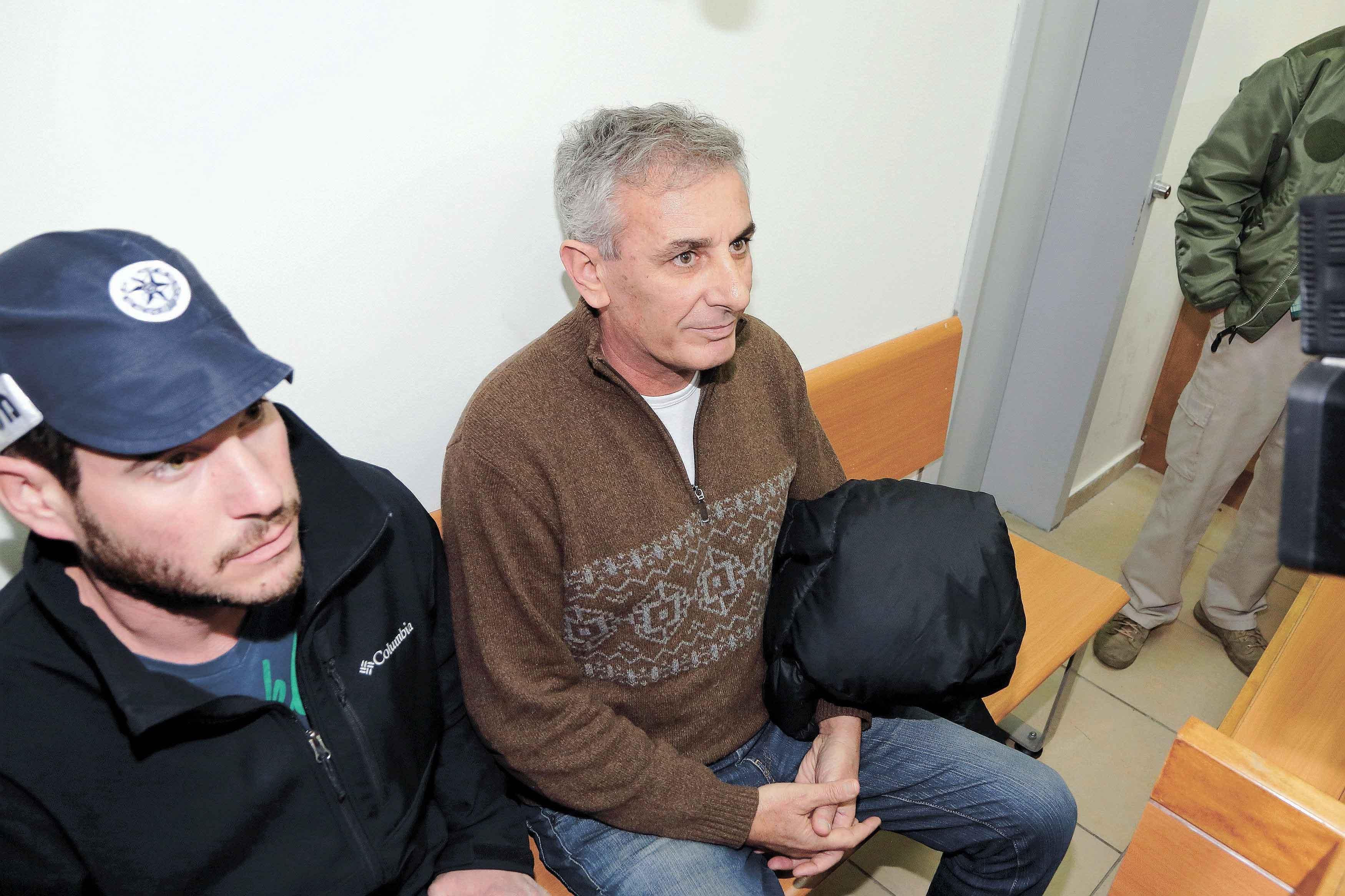 יהודה בן חמו בהארכת המעצר בפברואר. צילום עזרא לוי