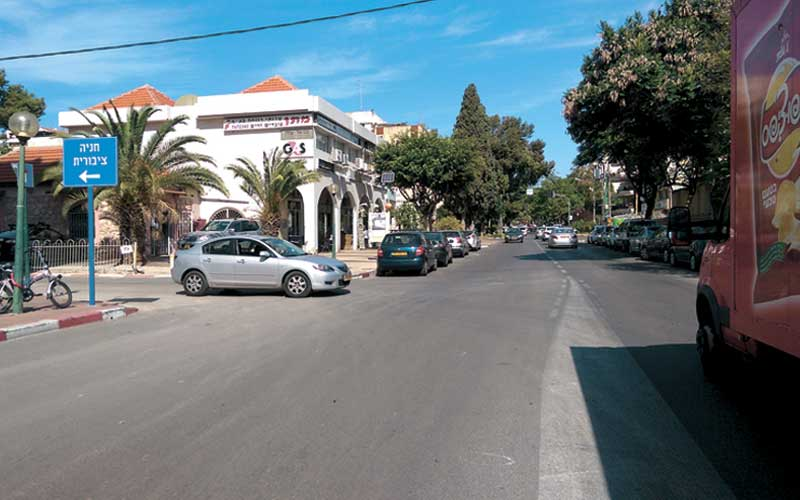 רחוב תל חי. צילום עזרא לוי