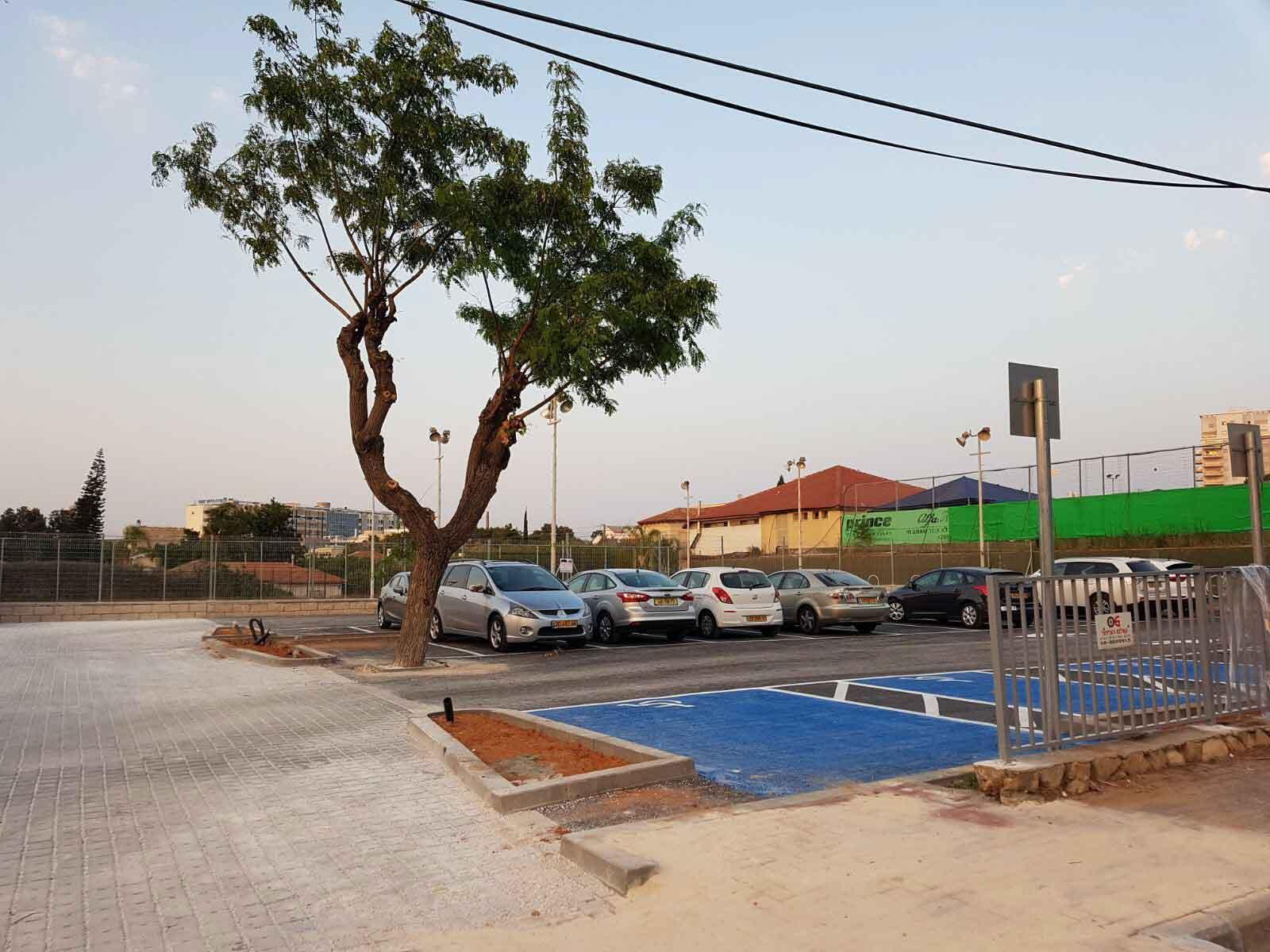 מגרש החניה החדש סמוך לקאנטרי גלי השרון. צילום באדיבות עיריית כפר סבא