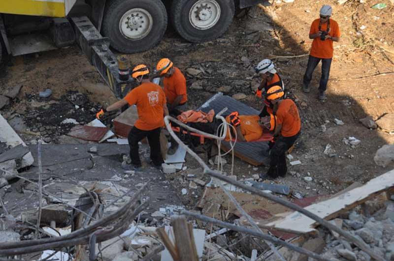 תרגיל חילוץ ברעננה. צילום דוברות העירייה