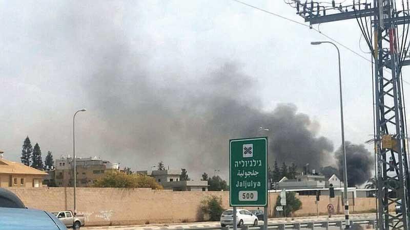 שריפת פסולת בג'לג'וליה. צילום אזרחים למען אויר נקי