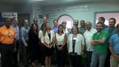 משלחת ראשי הערים במרכז היזמות. צילום: עיריית הרצליה
