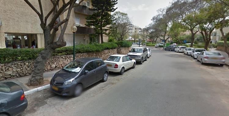 הקטע המדובר ברחוב המייסדים. צילום גוגל מפות