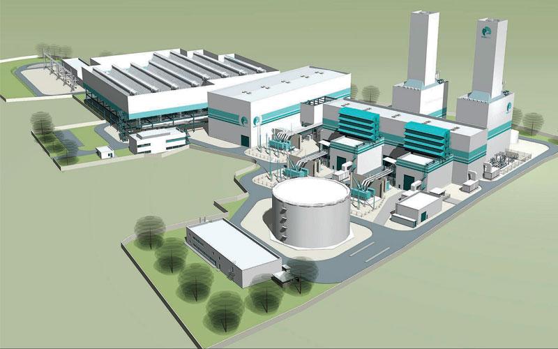 הדמיית תחנת הכוח של חברת ריינדיר אנרגיה