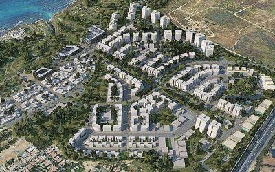 תכנית אפולוניה. הדמיה רשות מקרקעי ישראל