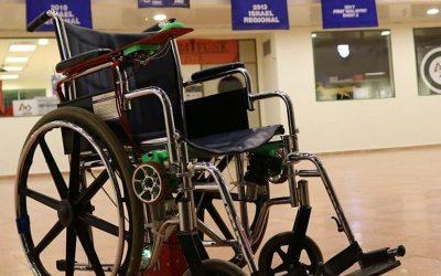 כסא הגלגלים שפיתחה קבוצת הרובוטיקה