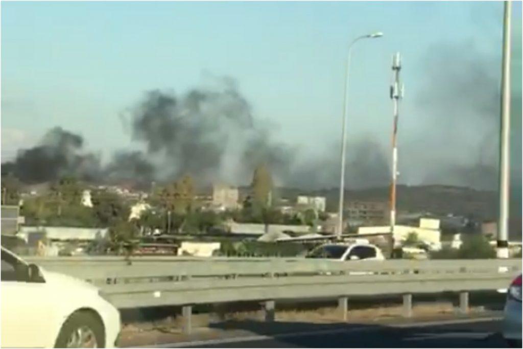 שריפת פסולת בג'לג'וליה