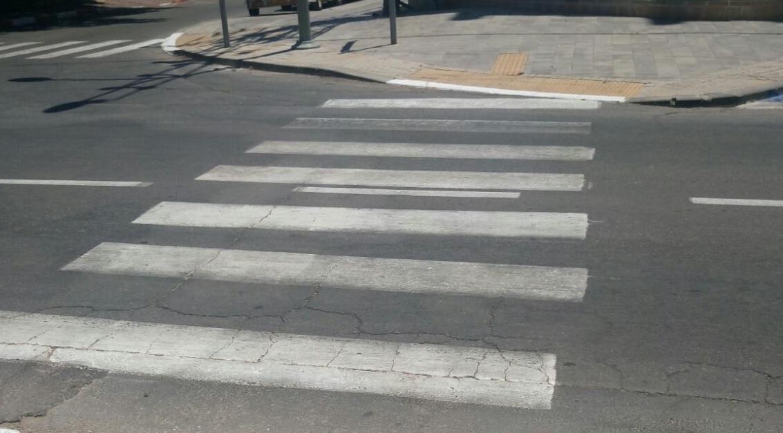 מעבר חצייה ברחוב בן יהודה. צילום אור ירוק