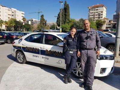 """השוטרת רס""""ל אניקו וילהם והפקח דור ביטון"""