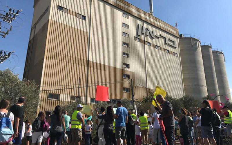 הפגנת תושבים בנובמבר נגד מפעל בראון בשכונה הירוקה