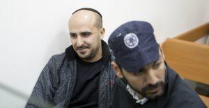 אלעד אלפרון בדיון הארכת המעצר בבית משפט השלום. צילום: מוטי מילרוד