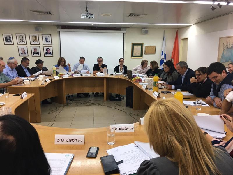 ישיבת מועצת העיר. צילום מירב זיגלמן