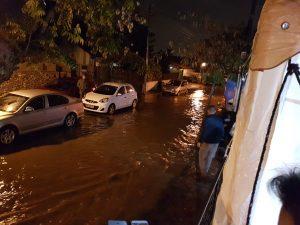 הצפה ברחוב תרי עשר בכפר סבא