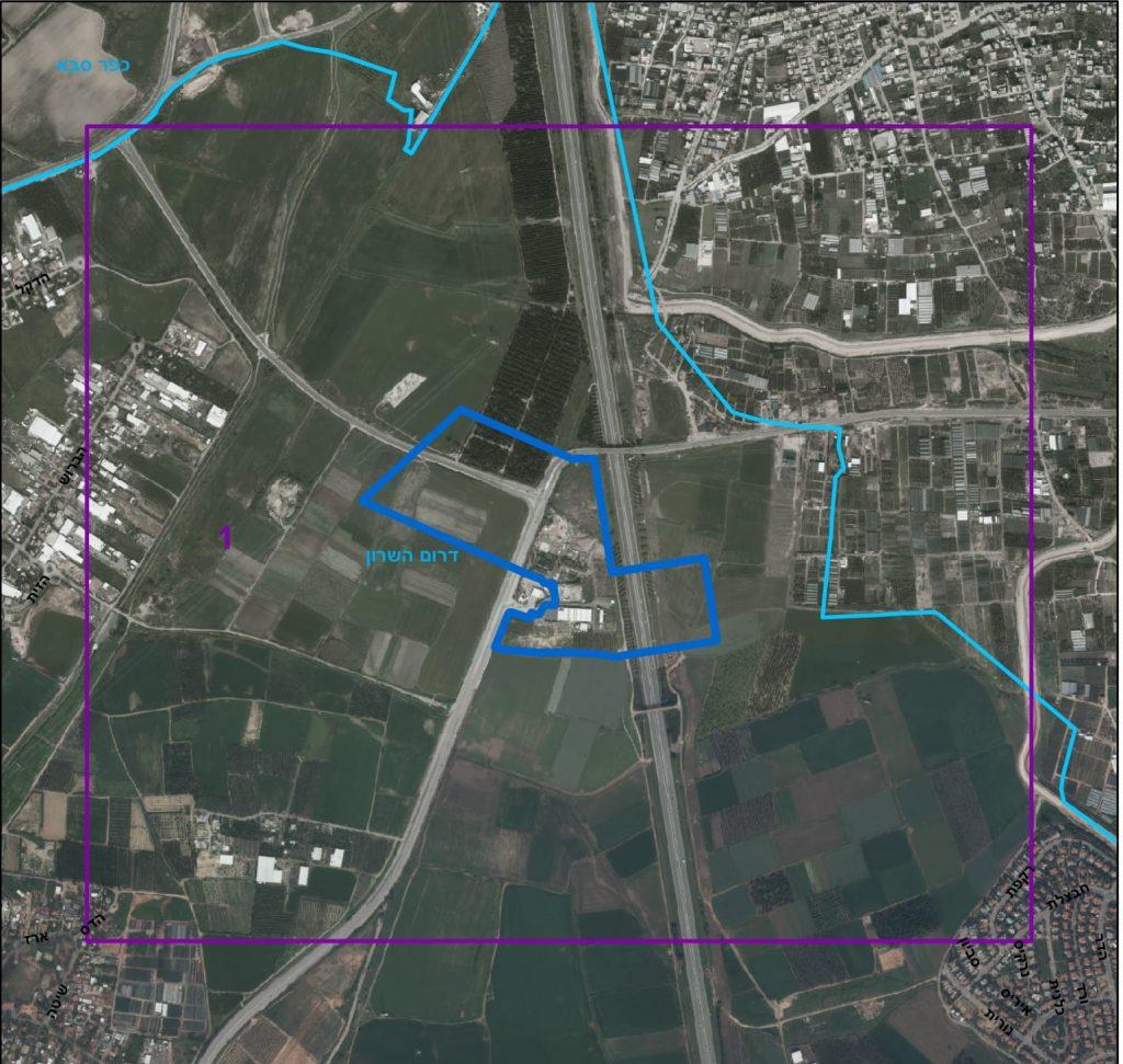 השטח בו מתוכננת לקום התחנה (כפר סבא בצפון מערב)