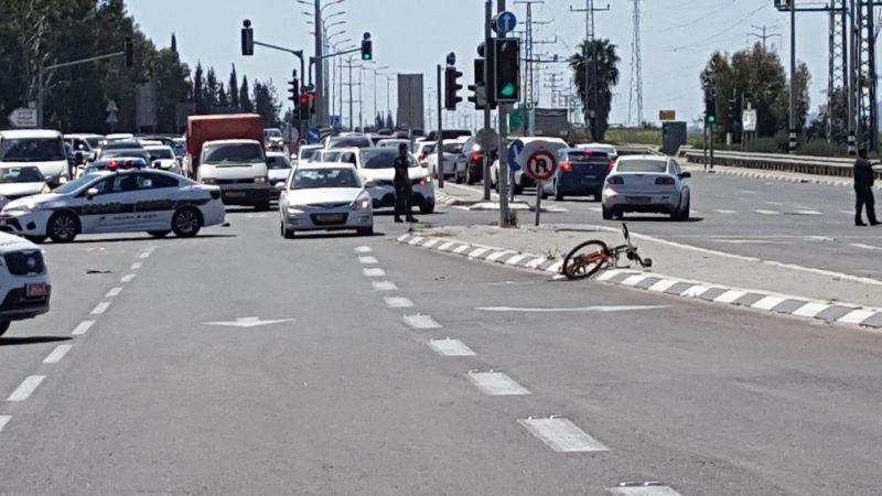 """זירת התאונה בכביש 444. צילום מד""""א"""