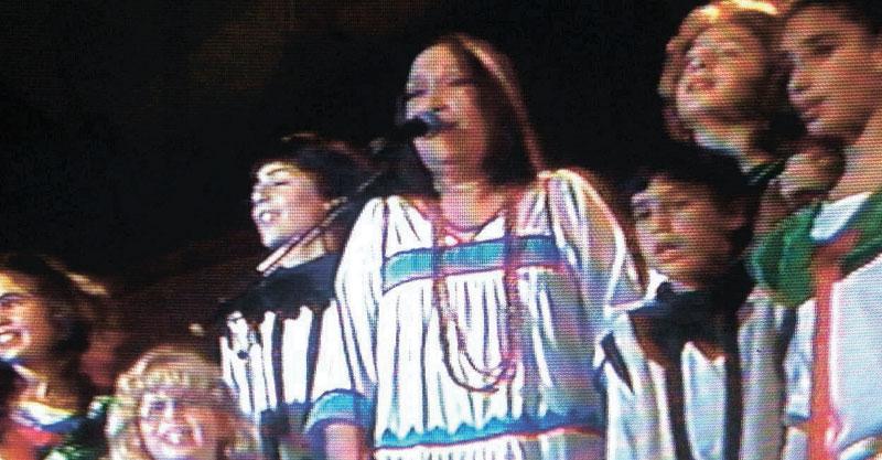 נעמי שמר בפסטיבל שירי ילדים צילום הערוץ הראשון