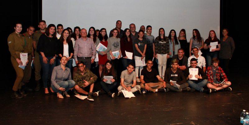 בני הנוער המתנדבים. צילום גבע מדמון