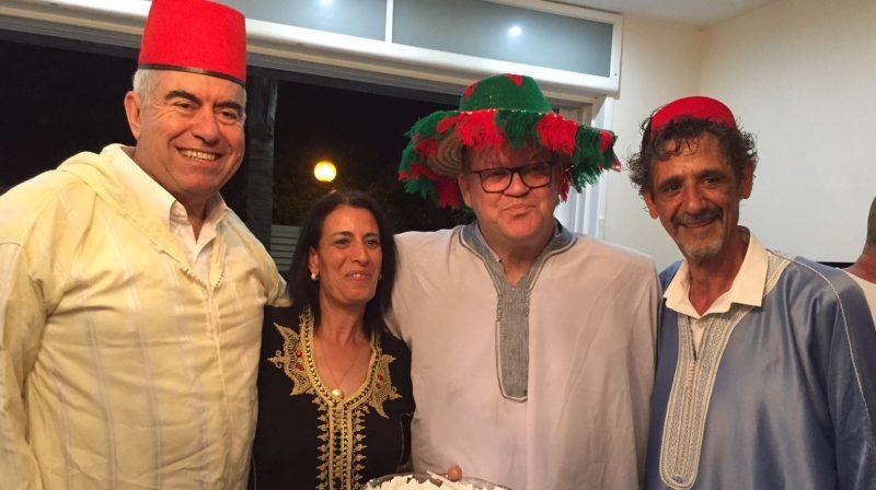 צביקה צרפתי ויוסי סדבון עם סיגל ודודי שטרית