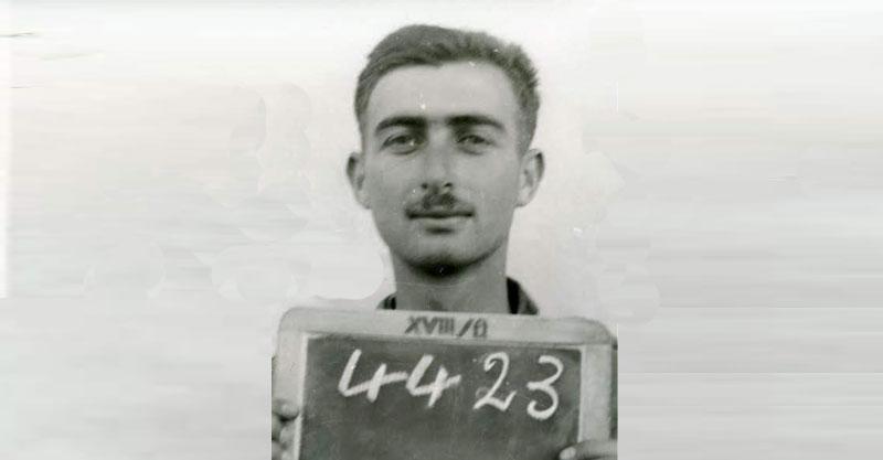 בנימין בית הלחמי, 1941, שבוי מס' PAL4423, במעמד התיעוד על ידי הצלב האדום