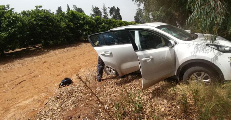 הרכב הנטוש. צילום משטרת ישראל