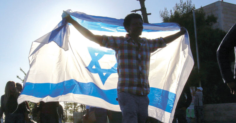 דגל ישראל צילום אוליבייה פיטוסי