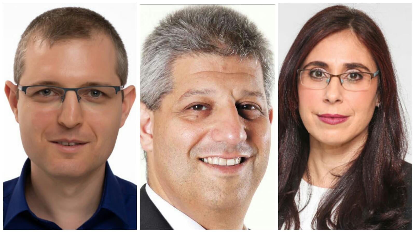 מימין: מירית שקד ברק, אורן כהן ועילאי הרסגור הנדין