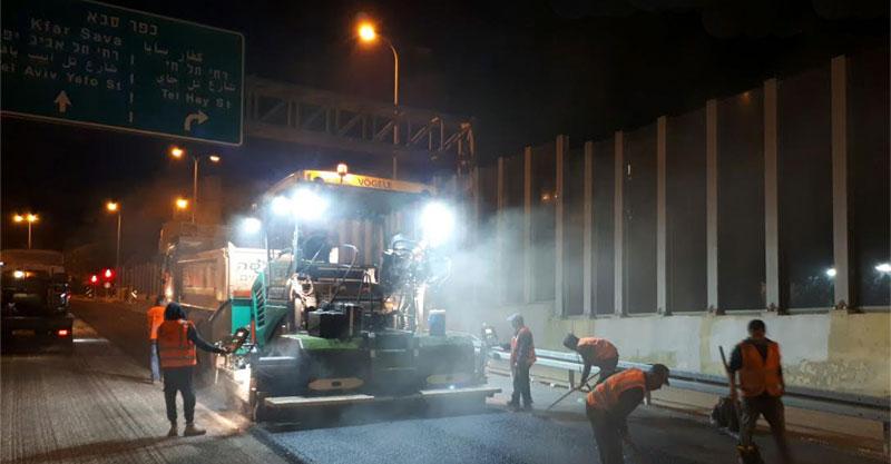 העבודות במחלף תל חי. צילום נתיבי ישראל