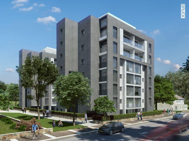 """הדמיית הבניין ברחוב הכרמל בפרויקט של אורבן נדל""""ן"""