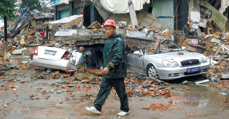 רעידת האדמה בסצ'ואן צילום רויטרס