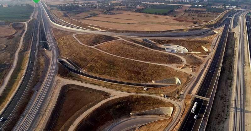 כביש 531 וכביש 20. צילום נתיבי ישראל