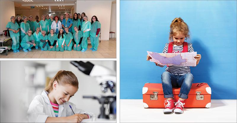 """פרויקטים - ביקור בנות פרויקט """"העצמת נשים"""" בבית החולים מאיר, אילוסטרציה. צילומים באדיבות עיריית כפר סבא, א.ס.א.פ קריאייטיב/INGIMAGE"""