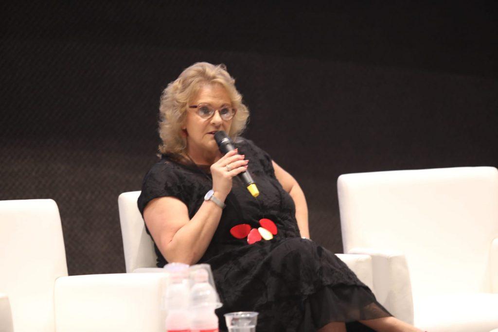 אורלי פרומן בועידת החינוך. צילום עזרא לוי