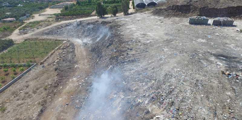 הר הזבל בקלקיליה. צילום אזרחים למען אוויר נקי