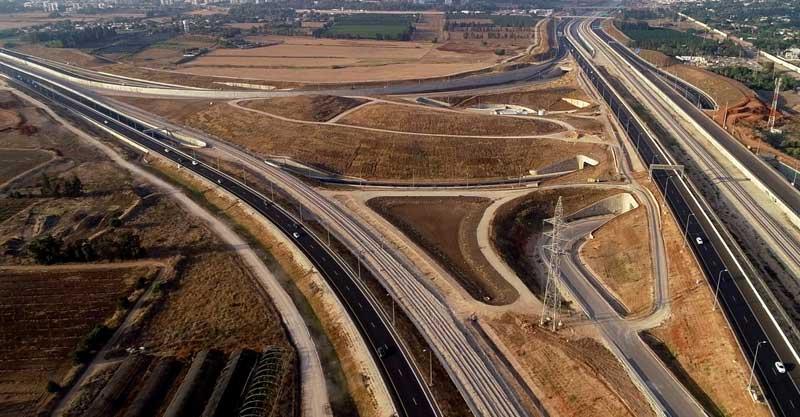 החיבור בין כביש 531 וכביש 20. צילום נתיבי ישראל