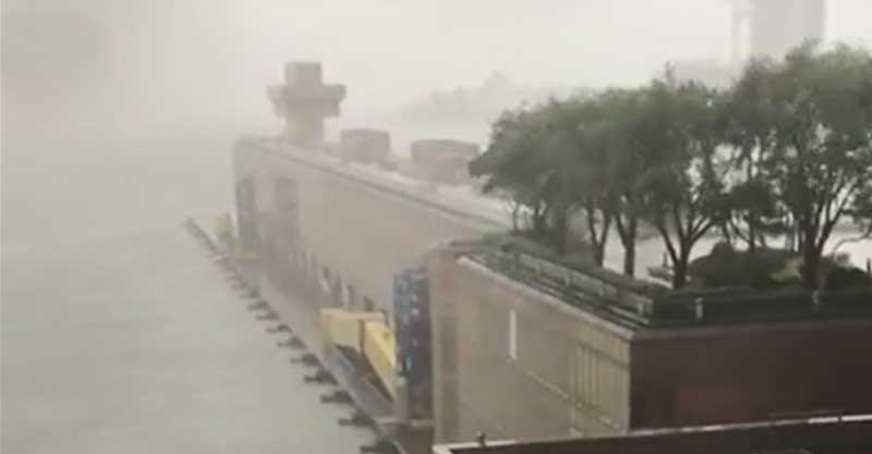 הטייפון בהונג קונג. צילום איליי שלו