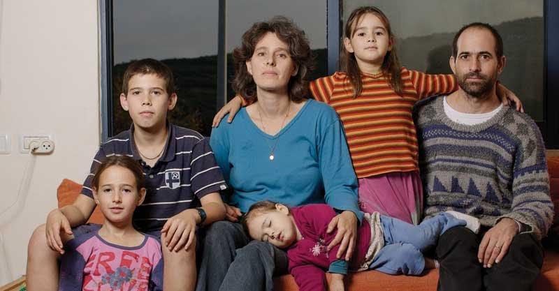 משפחת אגמור מיודפת. צילום רלי אברהמי