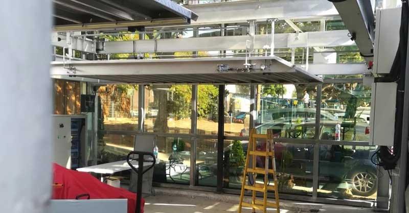מתקן החנייה הרובוטי מבפנים