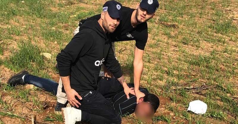 מעצר החשודים בפריצה