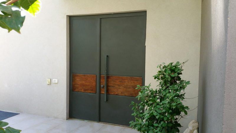 עיצוב דלתות כניסה באזור השרון. וריאציה