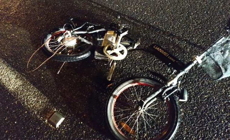 האופניים לאחר התאונה. צילום איחוד הצלה