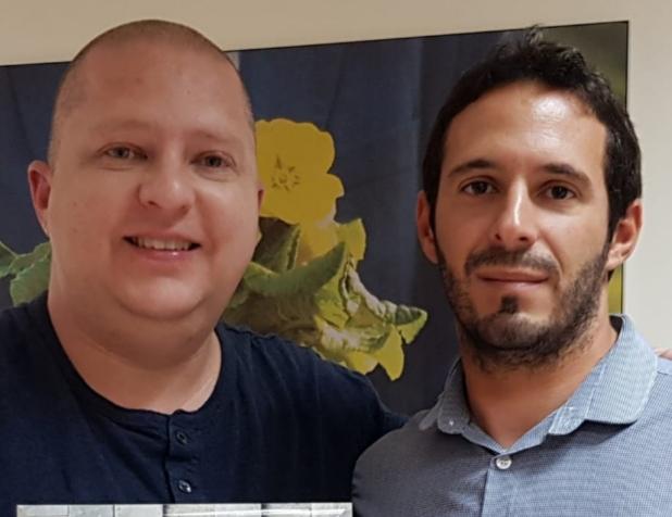 """עו""""ד שחר יחזקאל (מימין) ואלירן קוזליק"""