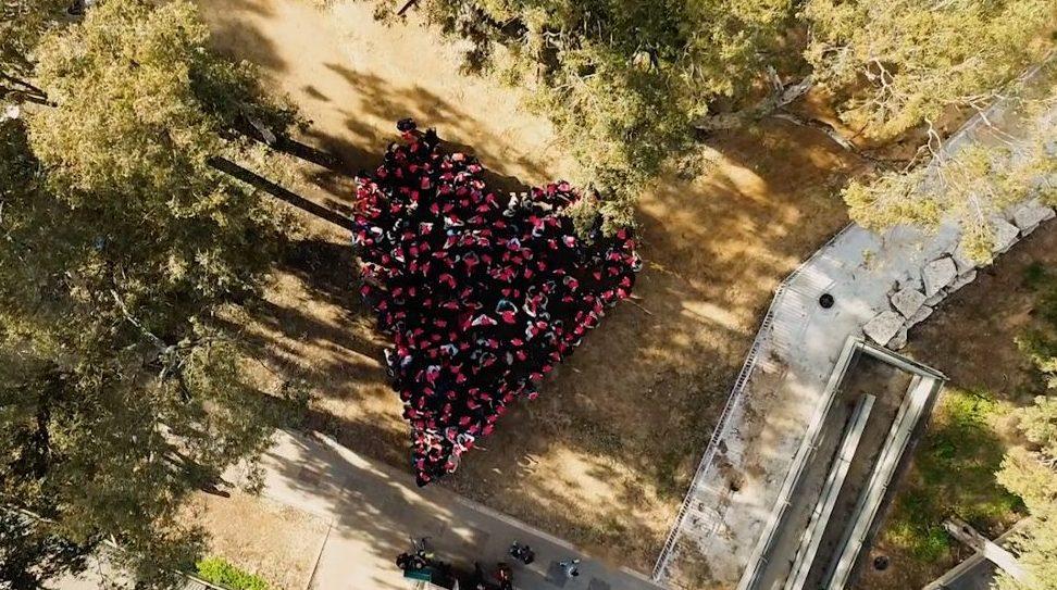 הלב של תלמידי אורט שפירא. צילום רואי בן ענת