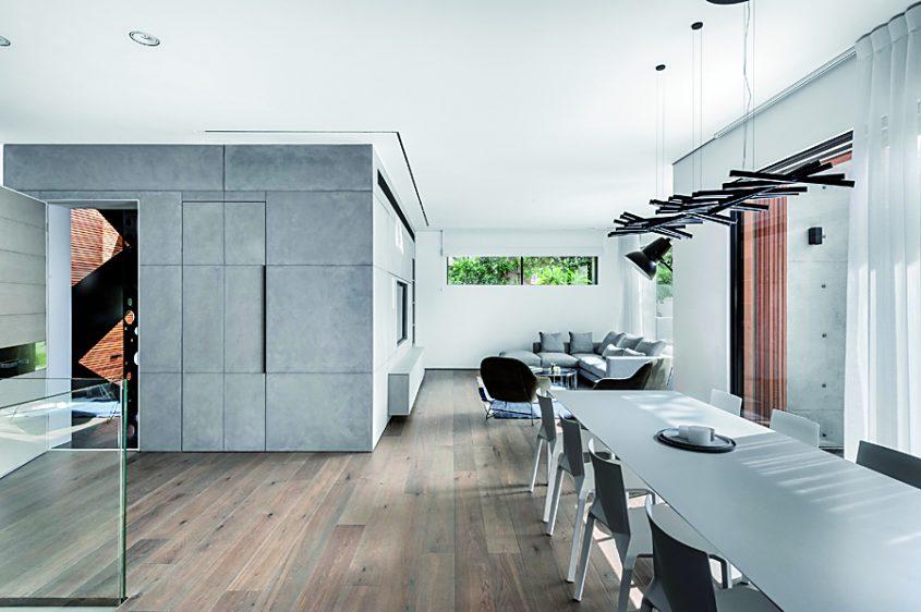 מבט מהסלון לכיוון המטבח (צילום: עודד סמדר)