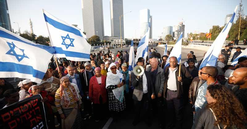מחאת בני העדה האתיופית. צילום מוטי מילרוד