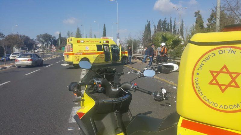 """זירת התאונה. צילום מד""""א"""