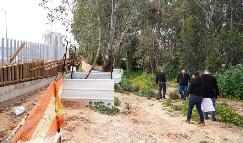 הסיור ביום חמישי בשטח העבודות. צילום: נתיבי ישראל