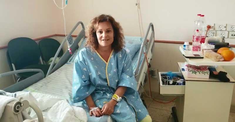 סוזן וולף בבית החולים בילינסון. צילום: דוברות בית החולים