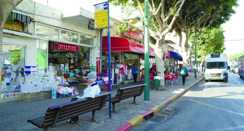 רחוב ויצמן צילום עזרא לוי