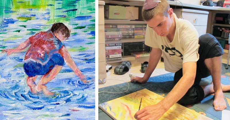הדר גולדין וציור שצייר